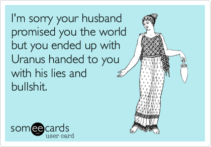 I'm sorry your husband