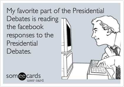 My favorite part of the Presidential Debates is reading