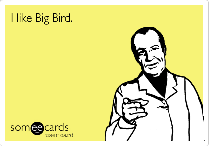 I like Big Bird.