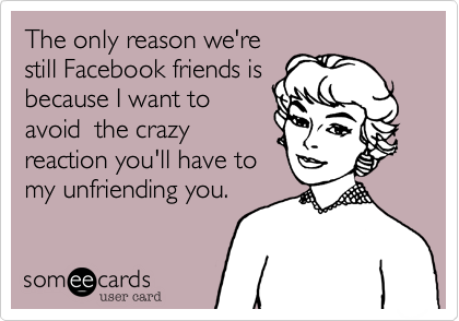 The only reason we're 