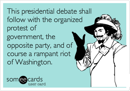 This presidential debate shall