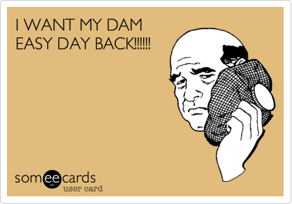 I WANT MY DAMEASY DAY BACK!!!!!!