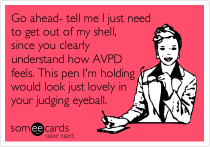 Go ahead- tell me I just need