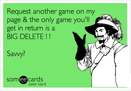 Request another game on my