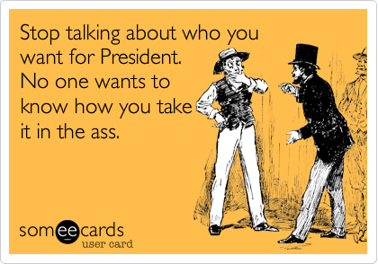Stop talking about who you