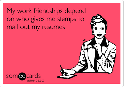 My work friendships depend