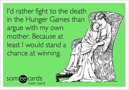 I'd rather fight to the death