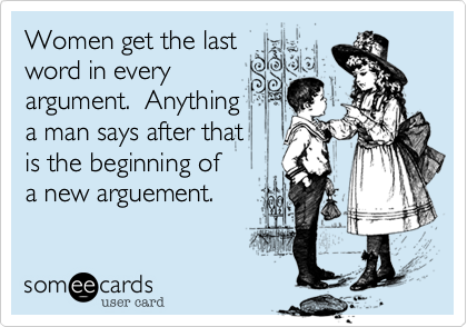 Women get the last  