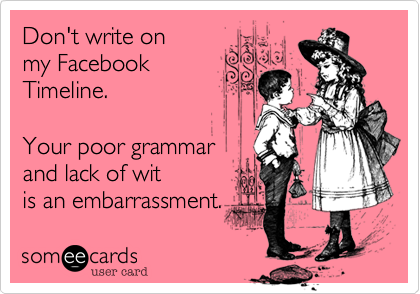 Don't write on