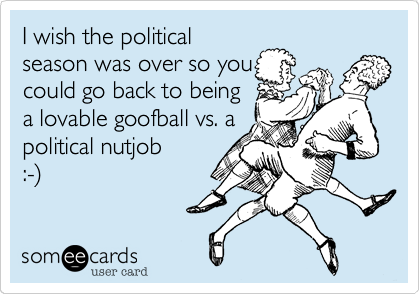 I wish the political