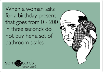 When a woman asks