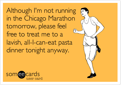 Although I'm not running