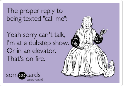 The proper reply to 