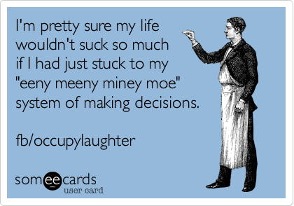 I'm pretty sure my life