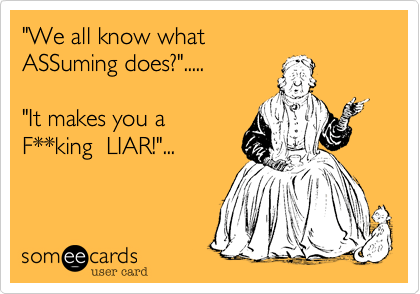 """We all know what 
