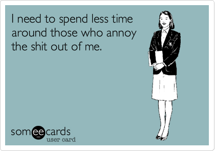 I need to spend less time