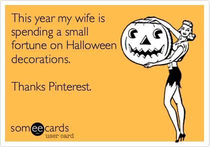 This year my wife is