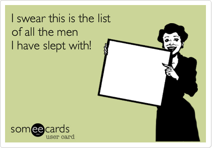 I swear this is the list