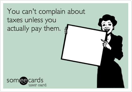 You can't complain about