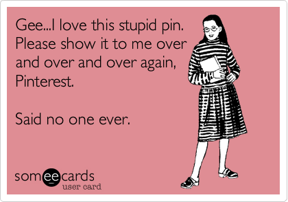 Gee...I love this stupid pin. 
