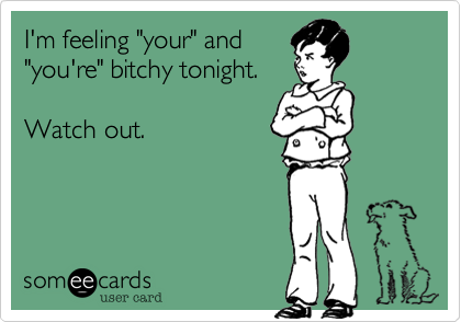 "I'm feeling ""your"" and