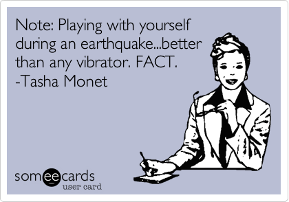 Note: Playing with yourself