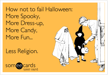 How not to fail Halloween: