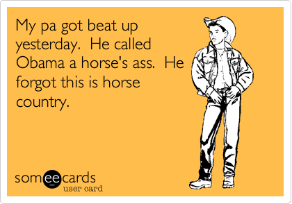 My pa got beat up