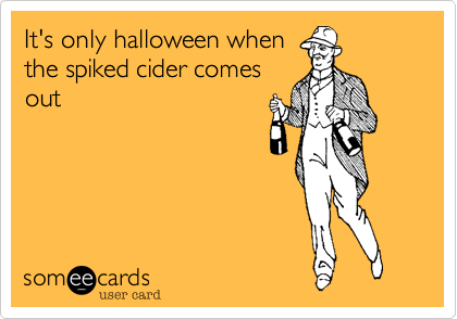 It's only halloween when