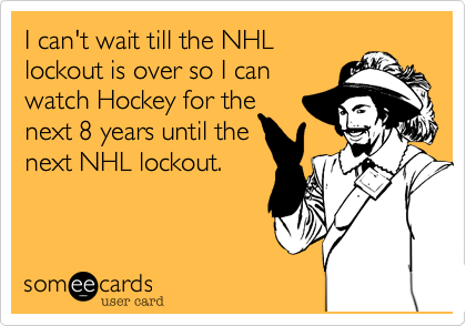I can't wait till the NHL