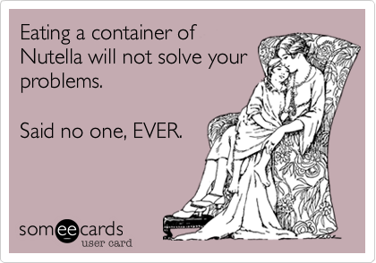 Eating a container of