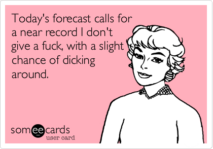 Today's forecast calls for