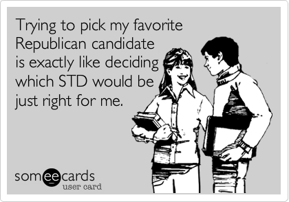Trying to pick my favorite Republican candidate