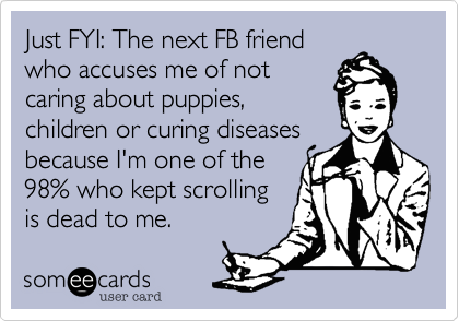 Just FYI: The next FB friend