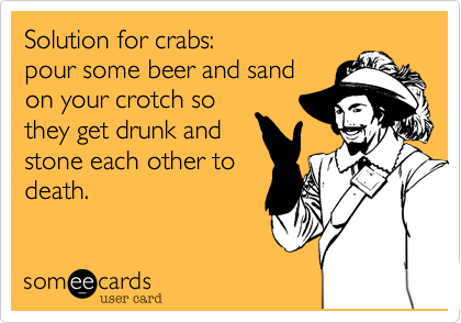 Solution for crabs: