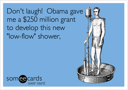 Don't laugh!  Obama gave