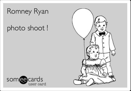 Romney Ryanphoto shoot !