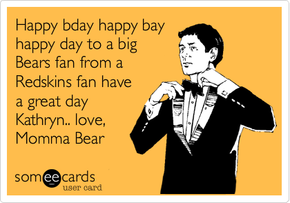 Happy bday happy bay