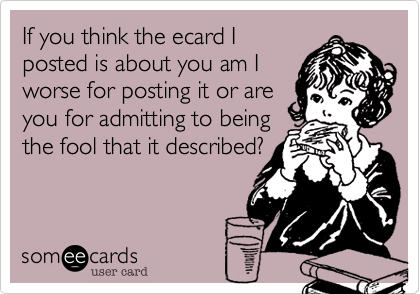 If you think the ecard I