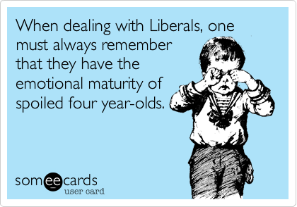 When dealing with Liberals, one