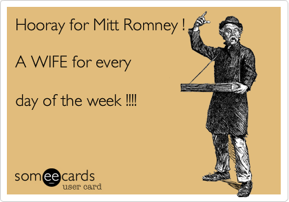 Hooray for Mitt Romney !
