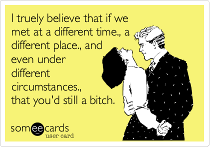 I truely believe that if we