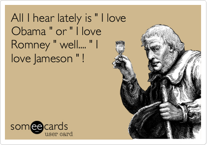 "All I hear lately is "" I love