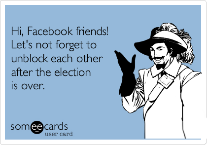 Hi, Facebook friends! 