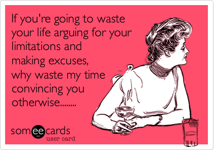 If you're going to waste