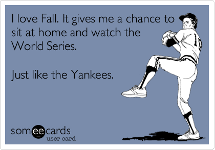 I love Fall. It gives me a chance to