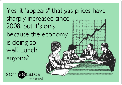 "Yes, it ""appears"" that gas prices have 