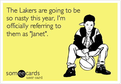 The Lakers are going to be