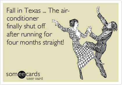 Fall in Texas ... The air-