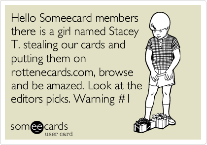 Hello Someecard members